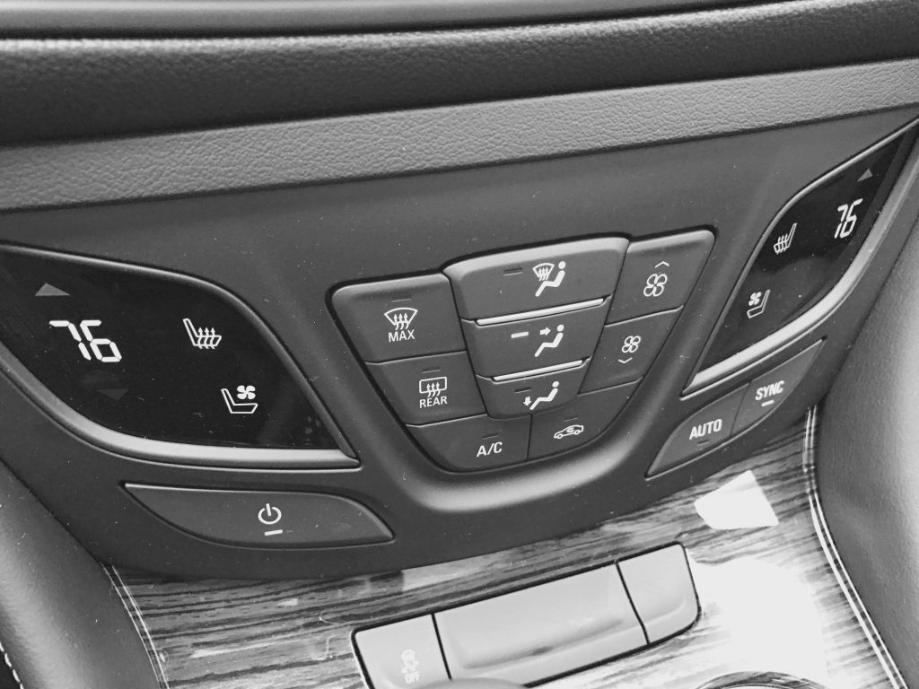 Temperature Controls in the Buick Envision