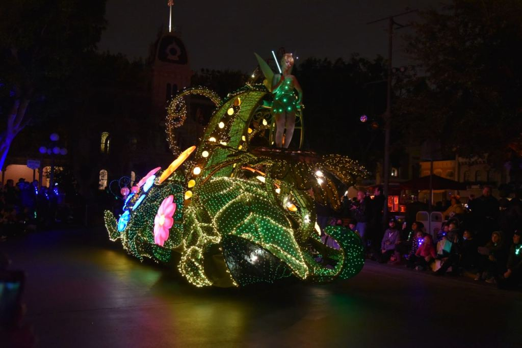 Tinkerbells float in the Main Street Electrical Parade