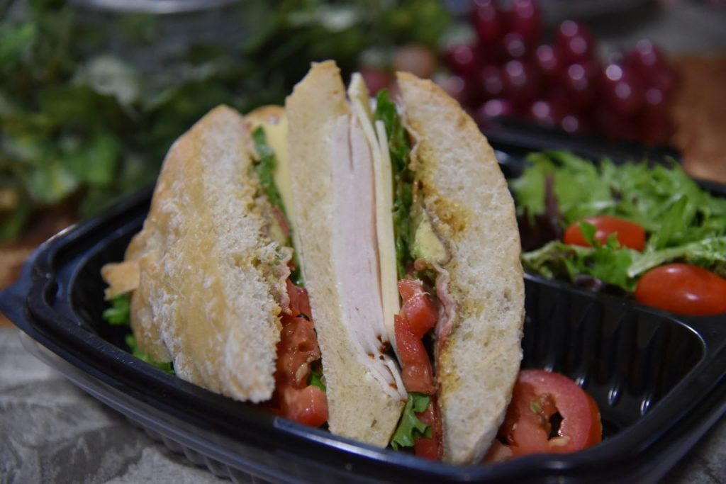 Turkey Sandwich at Cougar Winery in Temecula