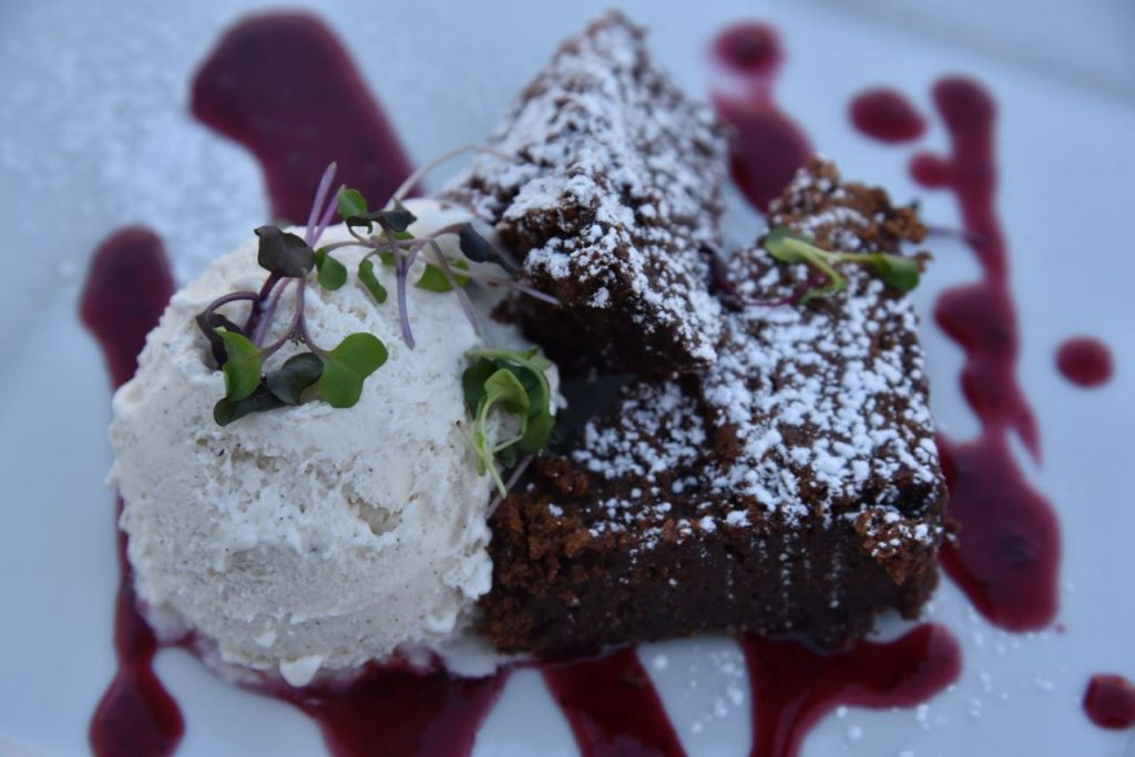 Flourless Chocolate cake at Green2Go in Brea
