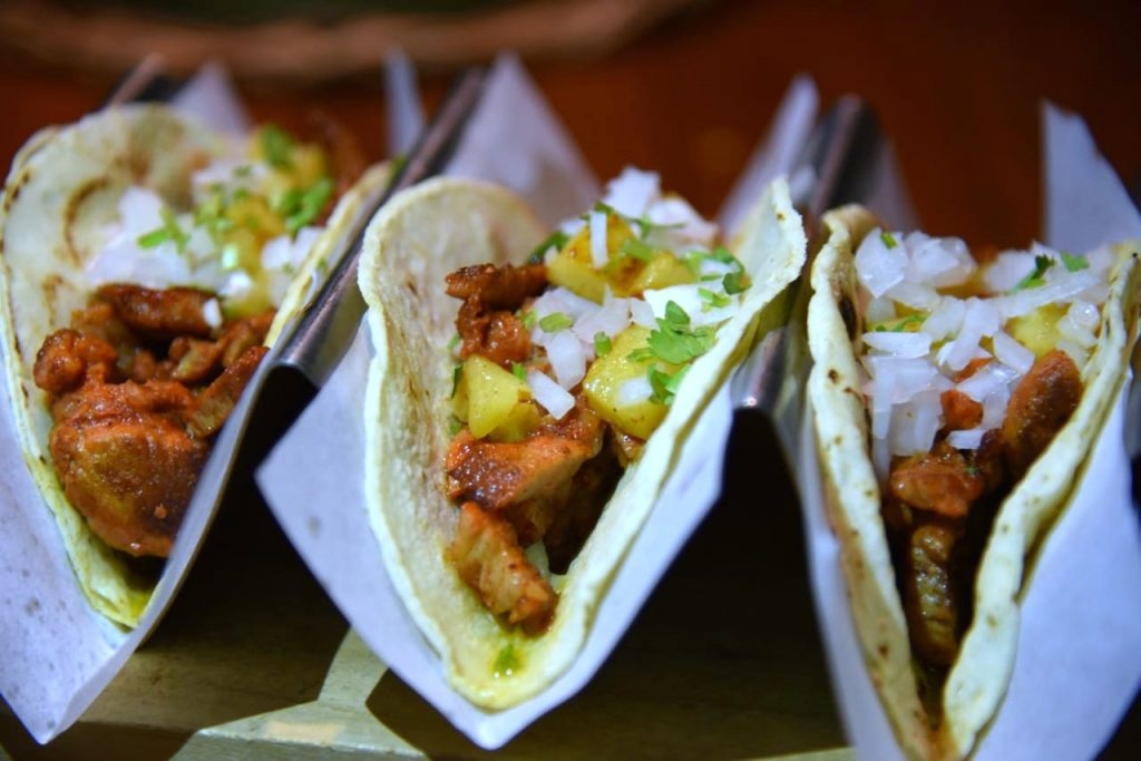 Al Pastor tacos at La Laguna at Fairmont Mayakoba
