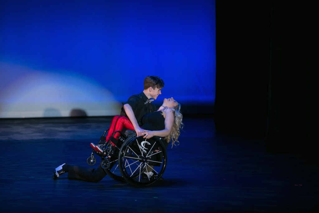 Ali Stroker performing on stage at OCSA