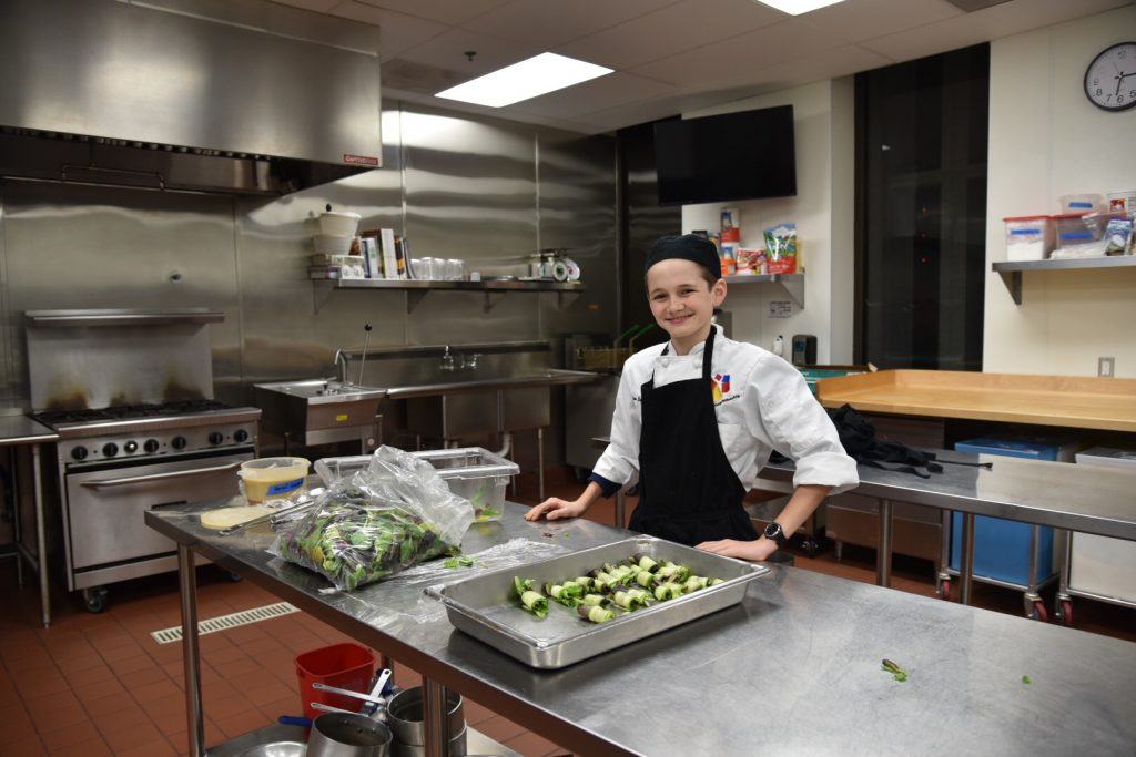 Andrew Barone working at catering event at OCSA