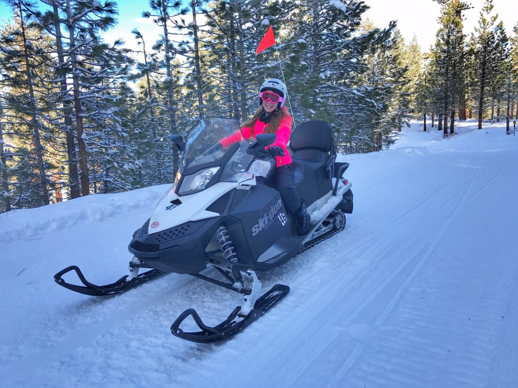 Kids experiencing DJ's Snowmobile Adventure