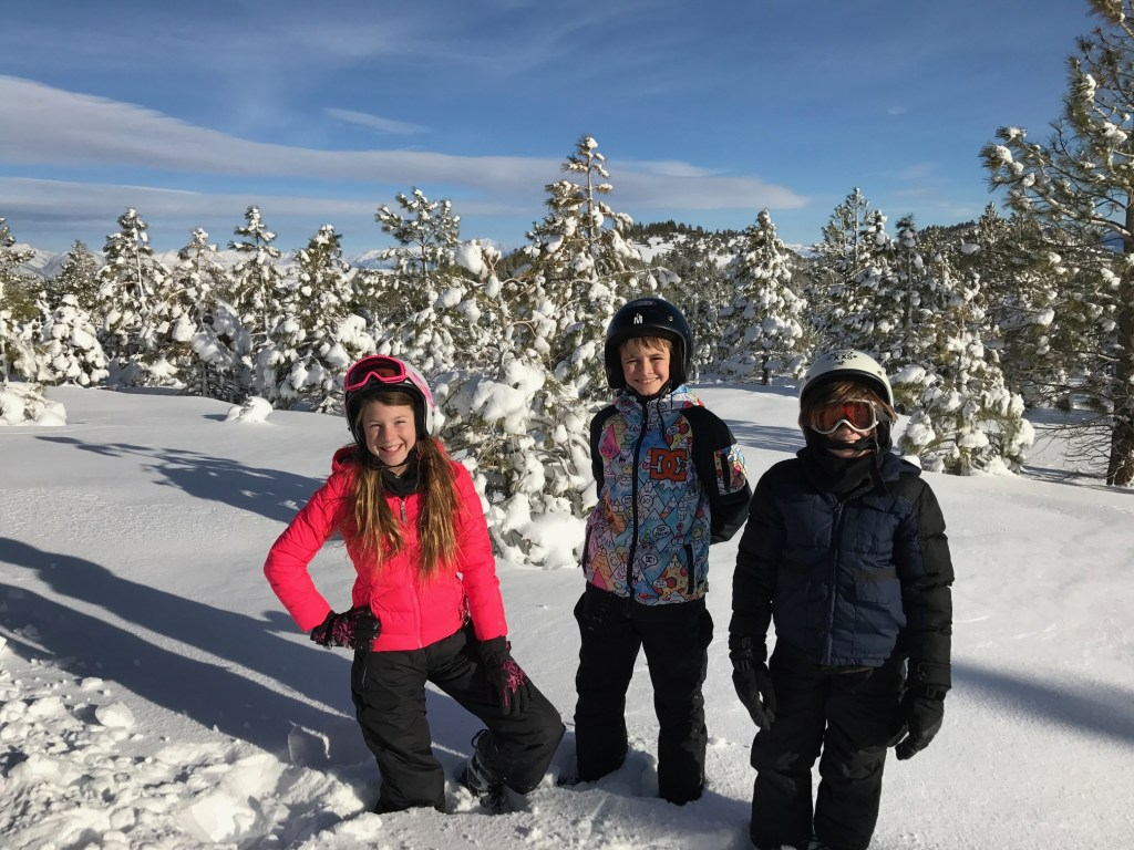 Kids having fun in Mammoth