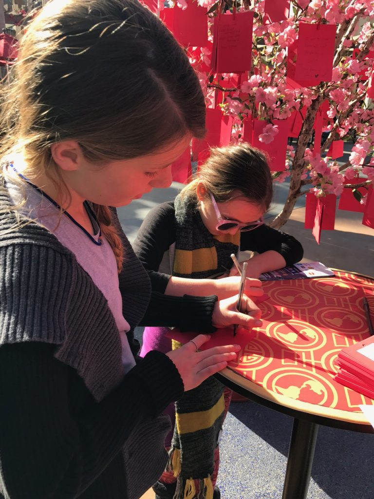 Lunar New Year wishing tree at Universal Studios Hollywood