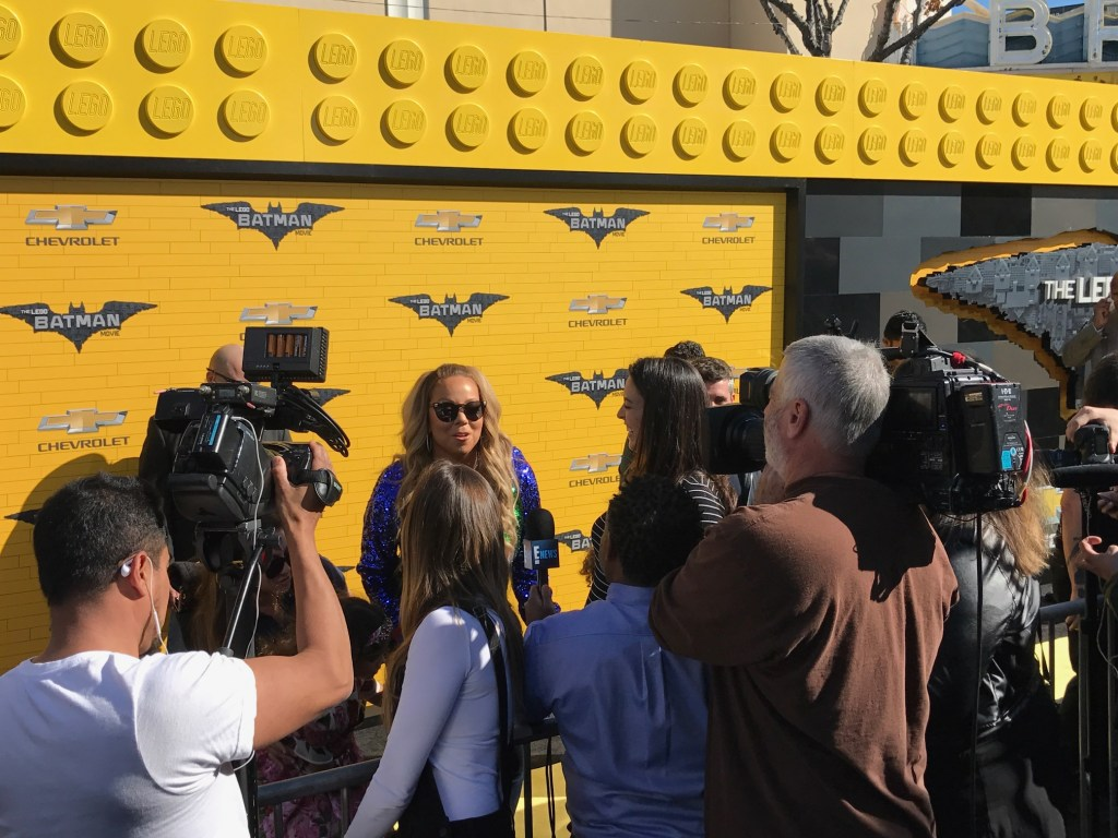 Mariah Carey walking the red carpet at The Lego Batman Movie Premiere