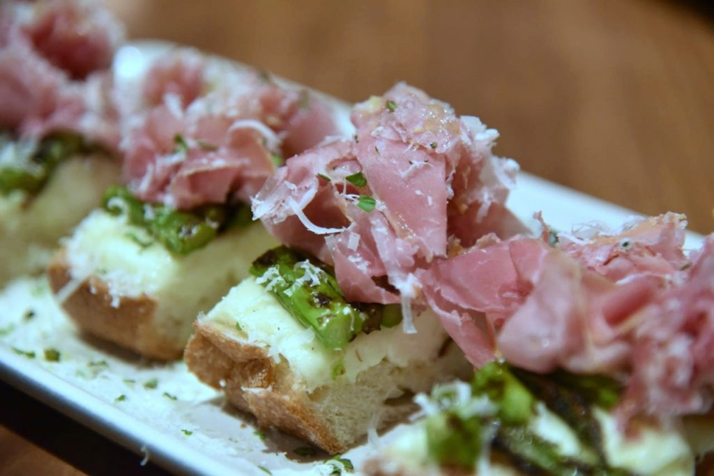 Prosciutto Bruschetta at North Italia in Irvine