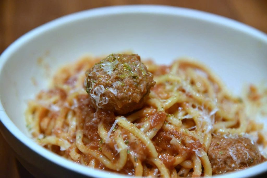 Spaghetti and Meatballs at North Italia in Irvine