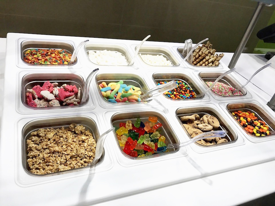 Yogurtland Toppings