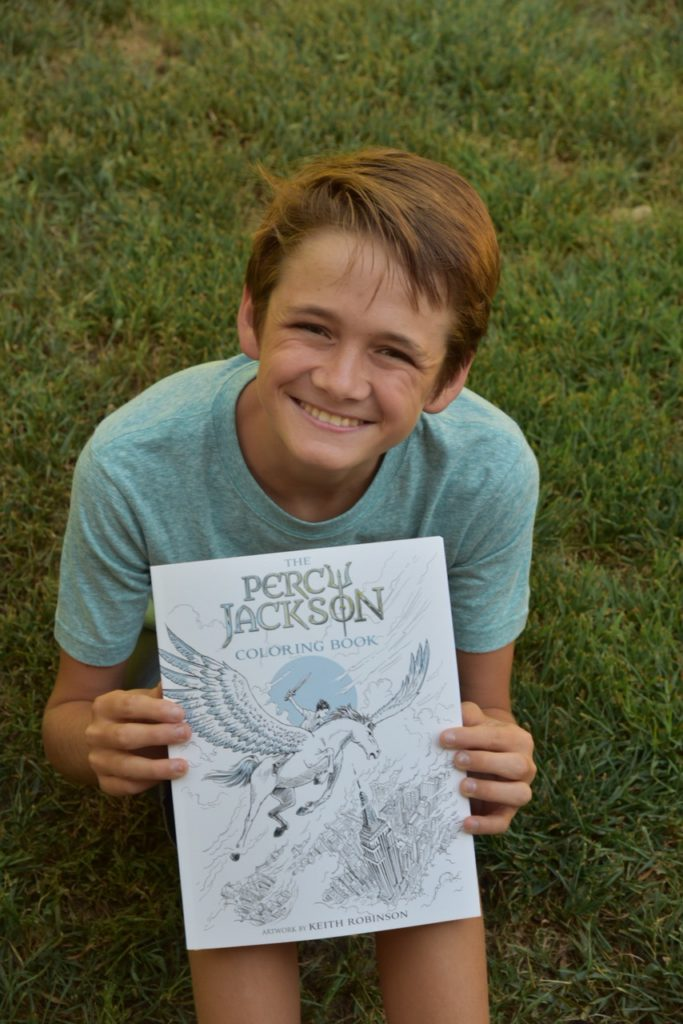 The Percy Jackson Coloring Book Giveaway Oc Mom Blog