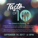 The District's Taste of 10 Anniversary Event