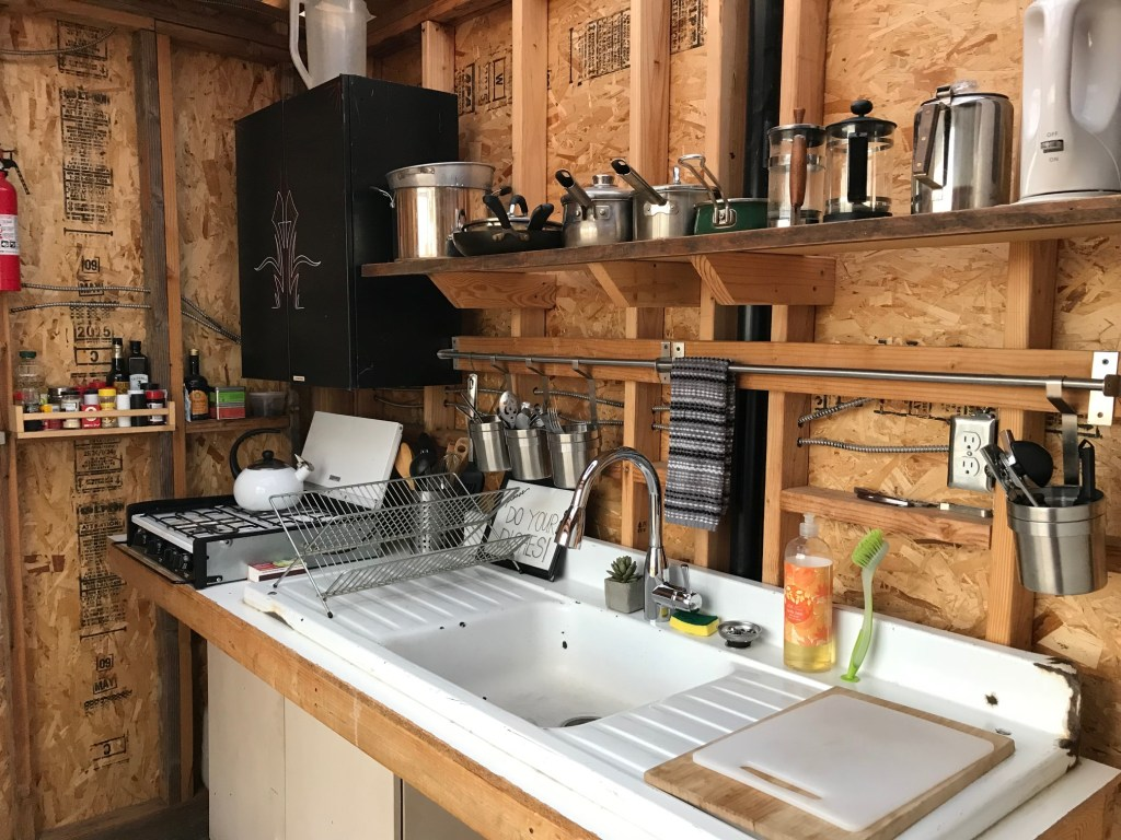 Inside the Joshua Tree Campsite Kitchen