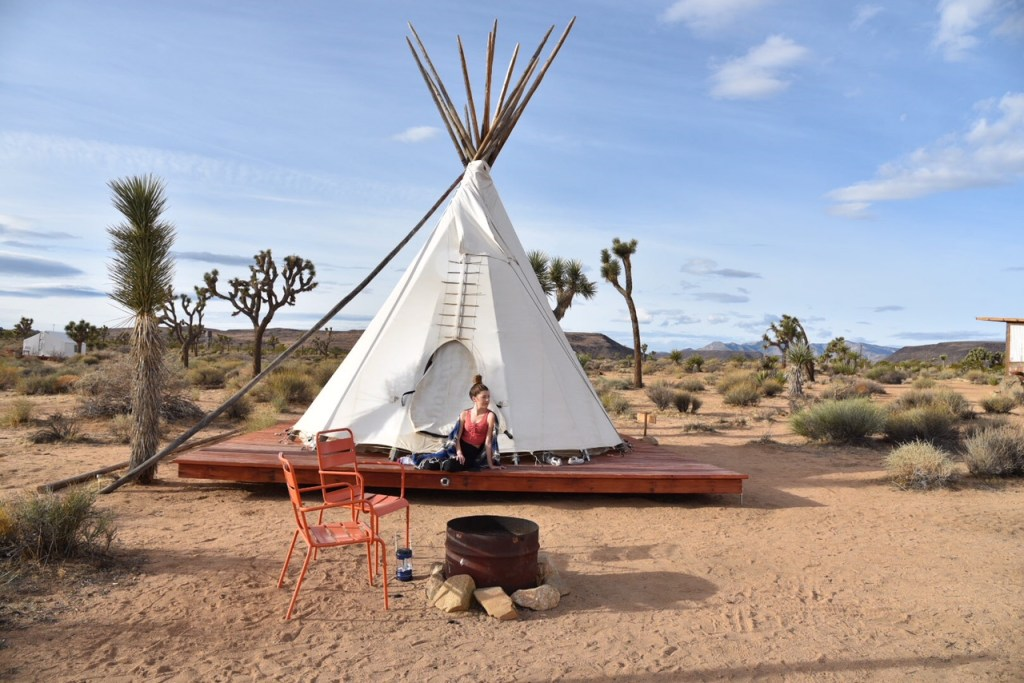 Tipi Campsite in Joshua Tree