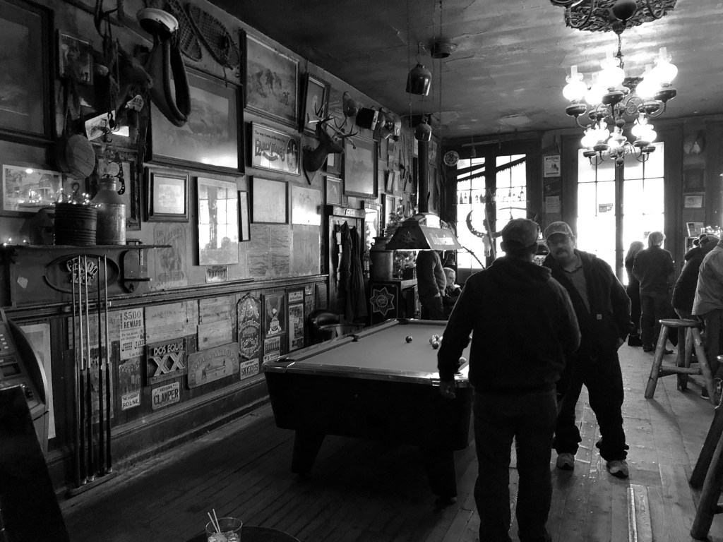 Inside Genoa Bar and Saloon