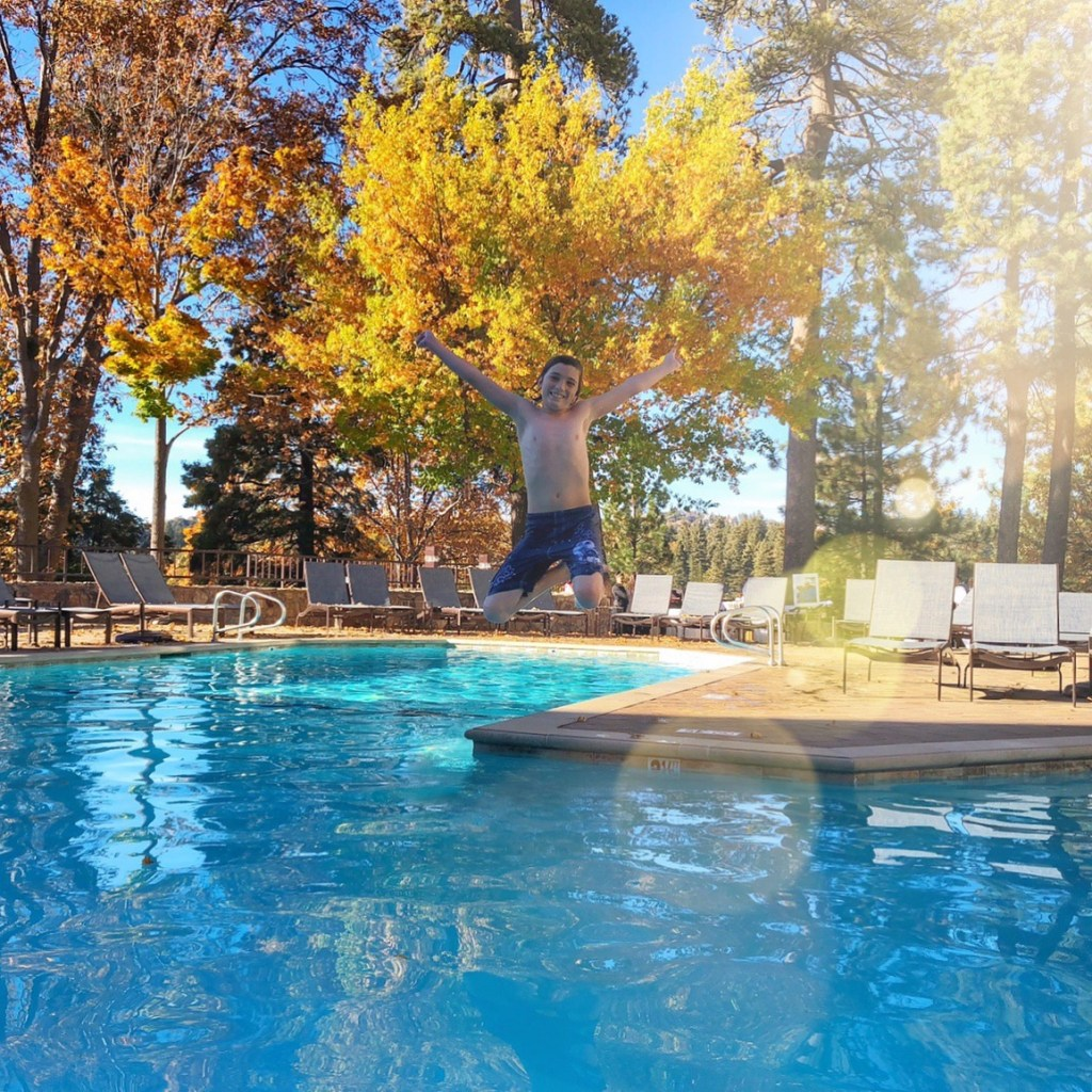 Swimming at The Lake Arrowhead Resort