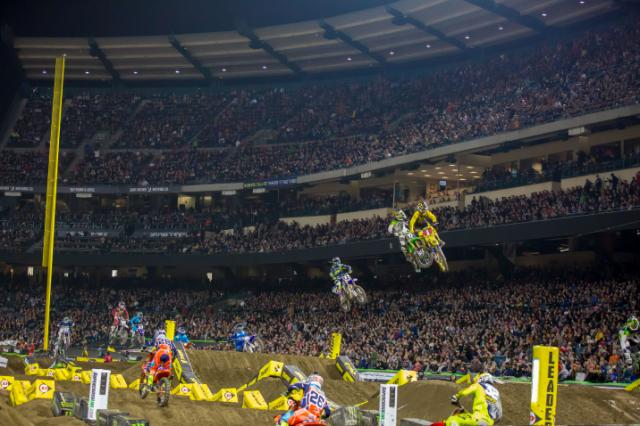 Thrilling SuperCross by Monster Energy at Angel Stadium in Anaheim