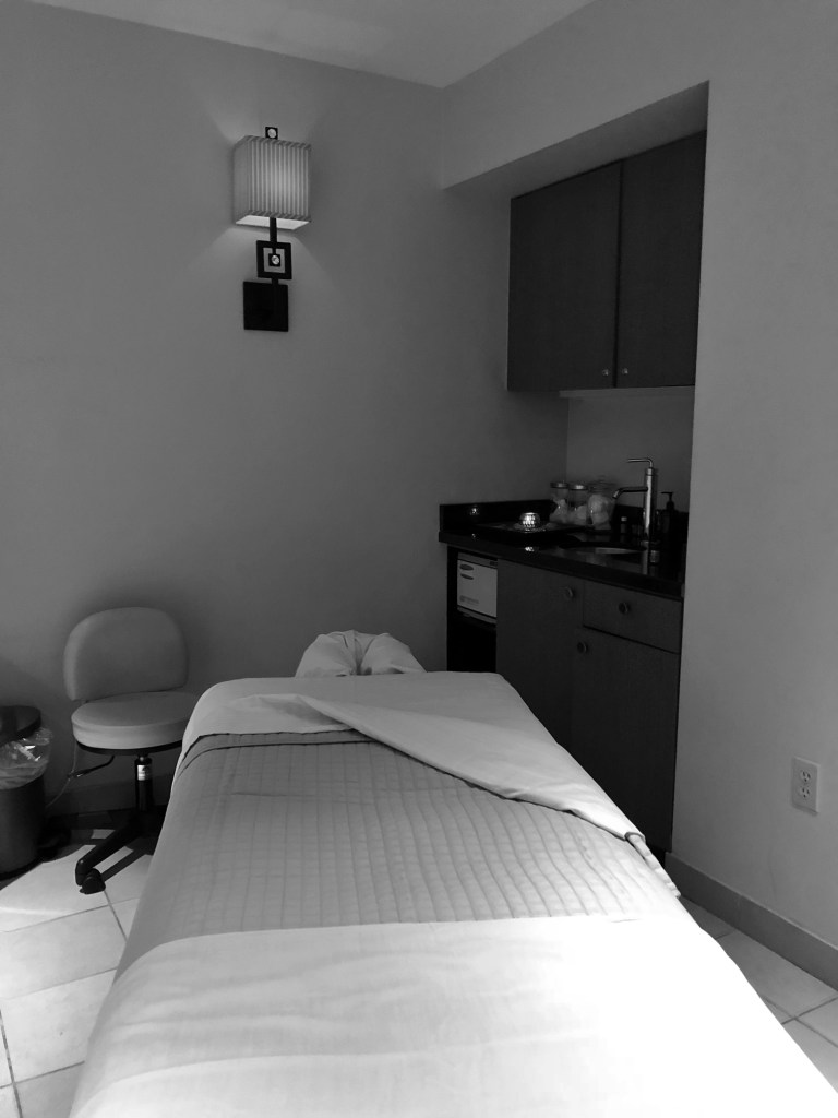 Treatment room at the Lake Arrowhead Resort Spa of the Pines