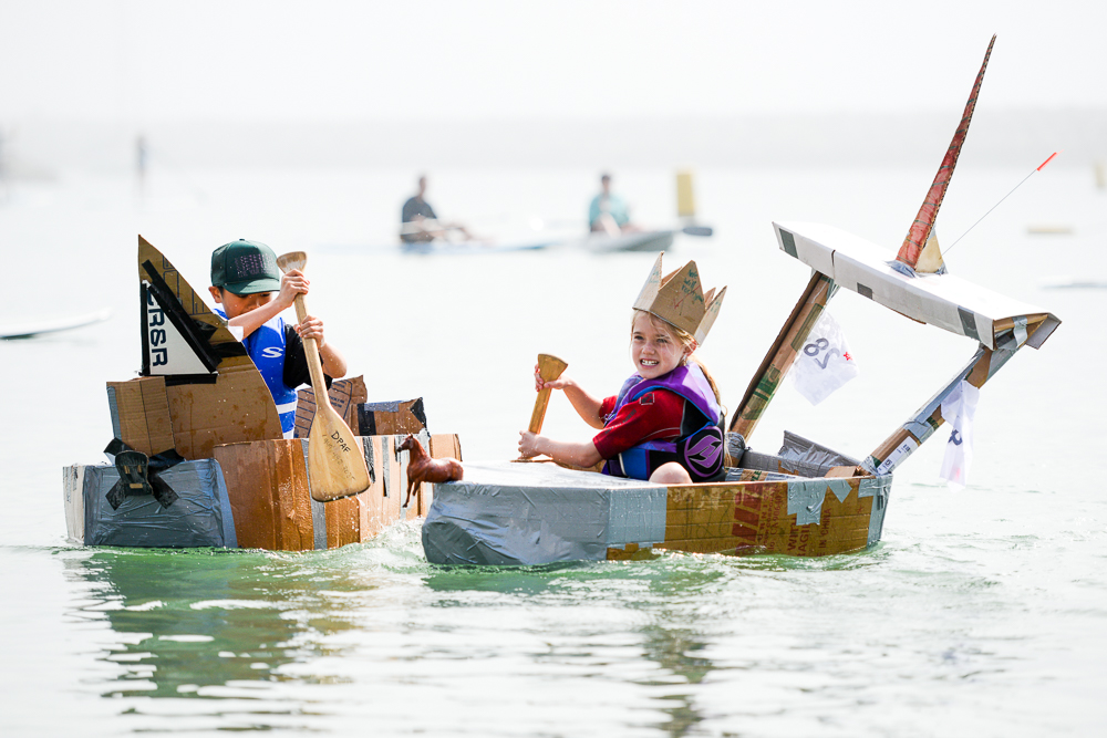 Cardboard Classic Dinghy Dash at the Festival of Whales