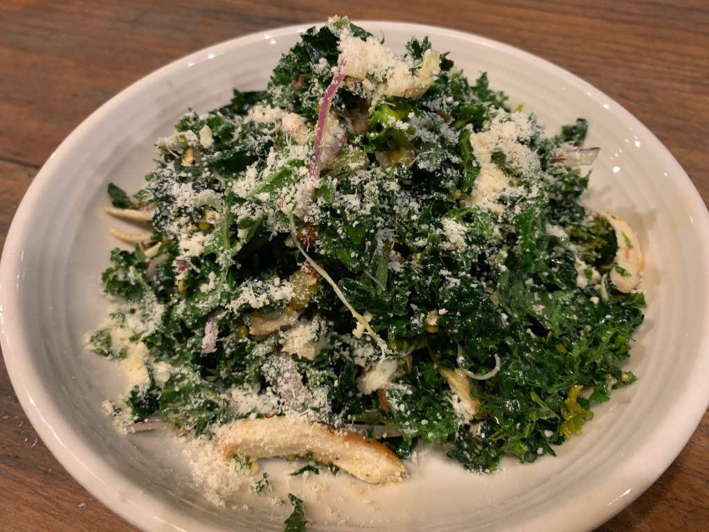 Kale salad at Pitfire Pizza in Costa Mesa
