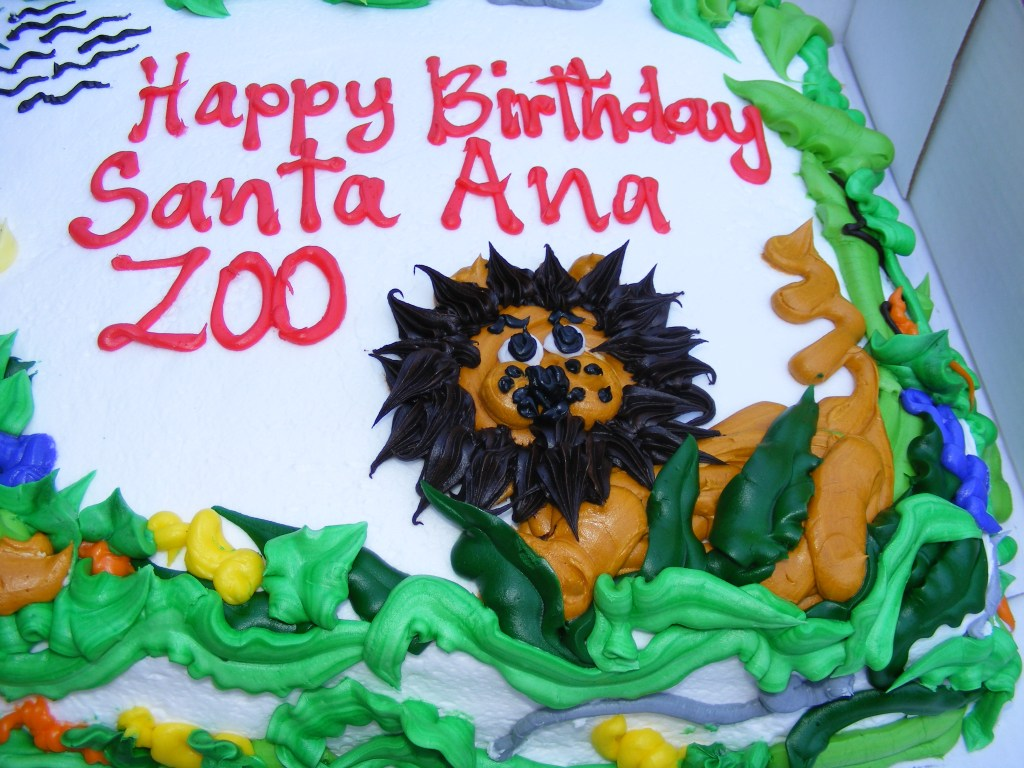 Santa Ana Zoo birthday cake