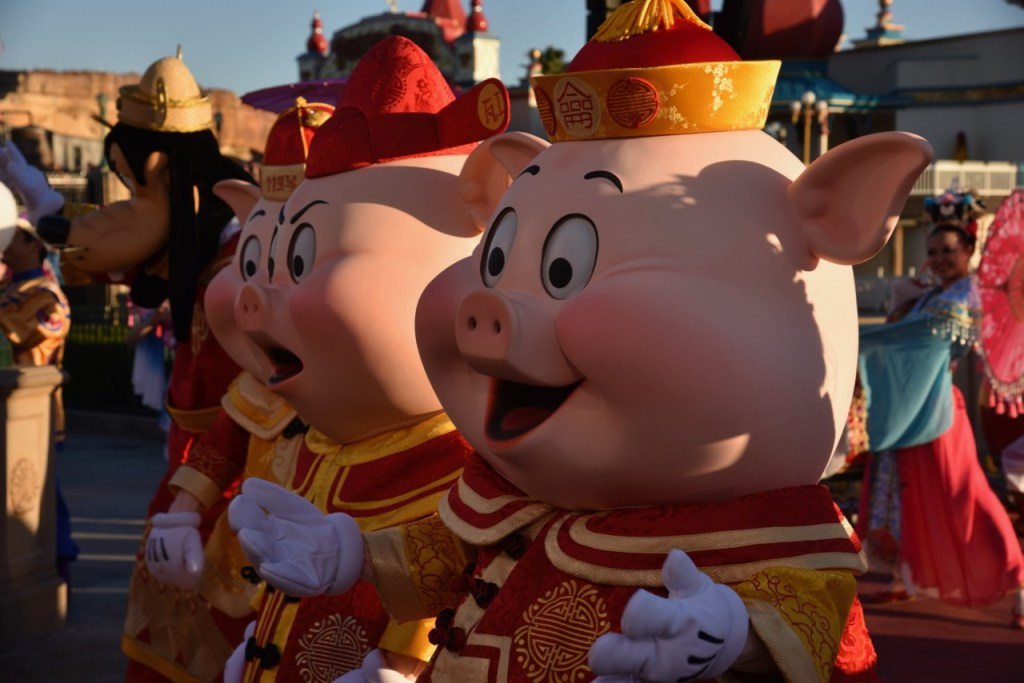 The Three Little Pigs in Mulan's Lunar New Year Procession