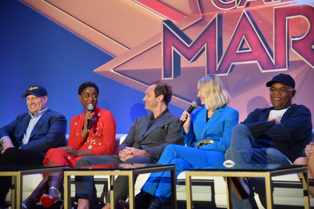 Interviewing the cast of Captain Marvel