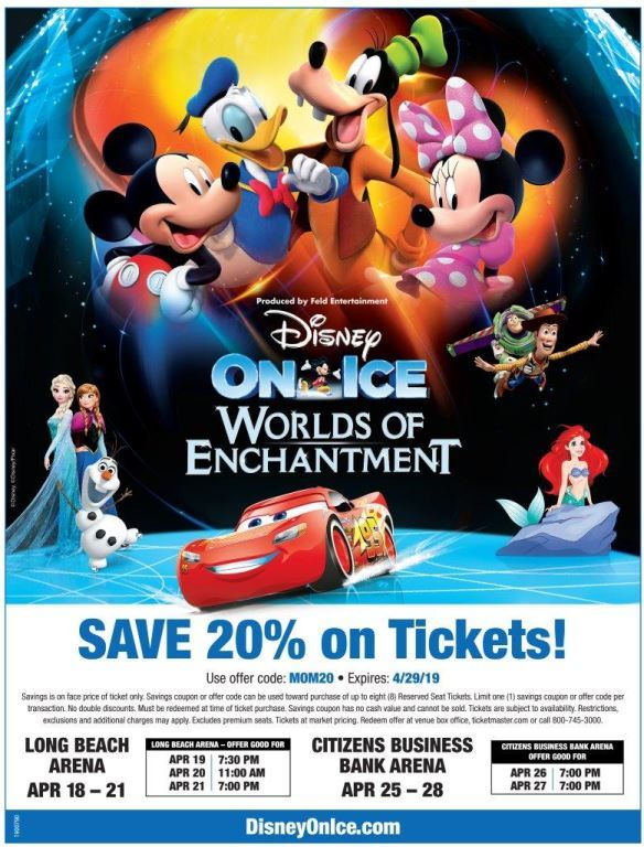 MOM Discount Flyer for Disney on Ice
