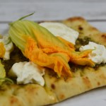 Squash Blossom and Burrata Flatbread Recipe