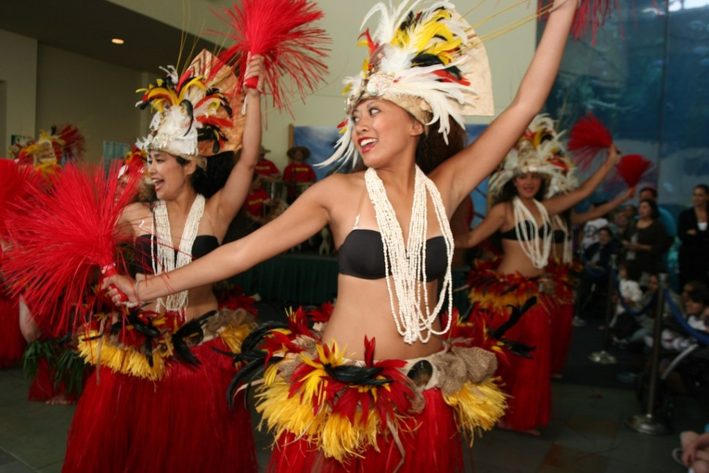 Hitia O Te Ra Tahitian dancers at the Pacific Islander Festival