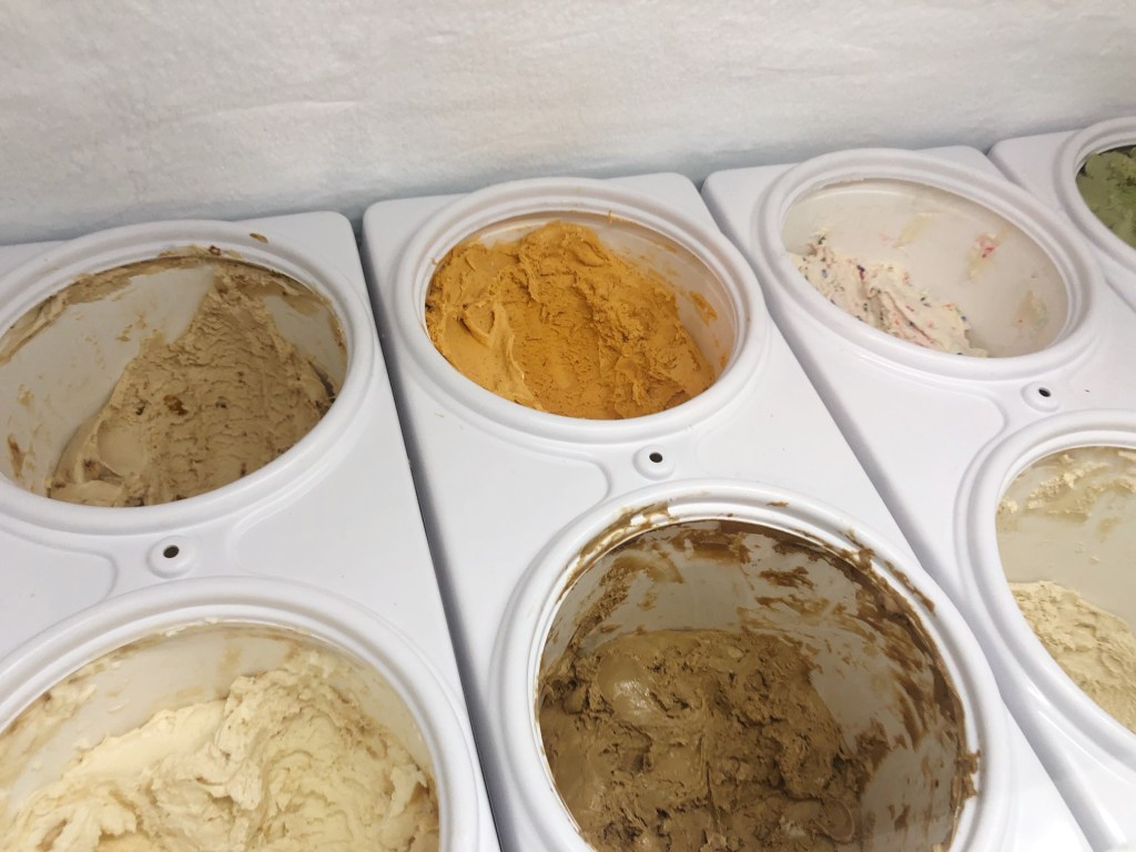 Ice cream flavors at Noble Folk Ice Cream and Pie Bar