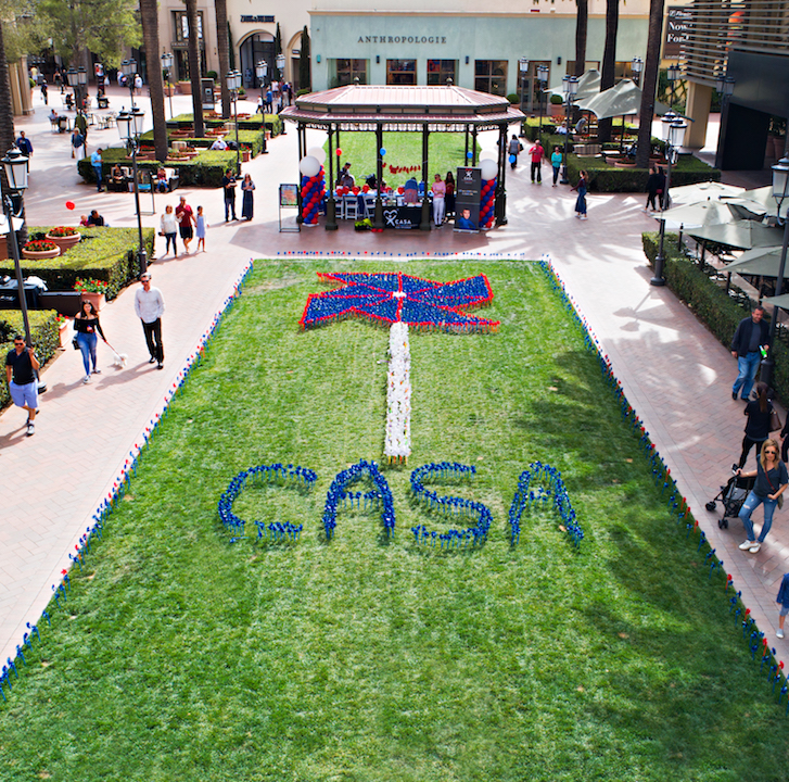 Pinwheel project with CASA at Fashion Island