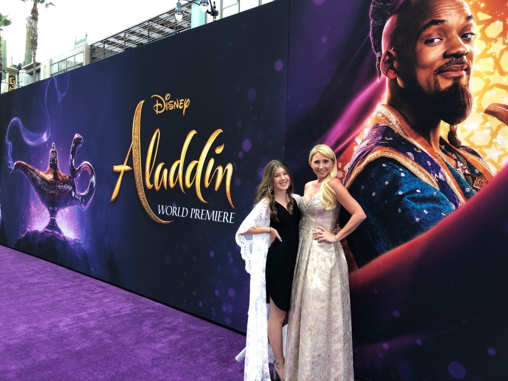 Shelby and Ella at the World Premiere of Disney's Aladdin