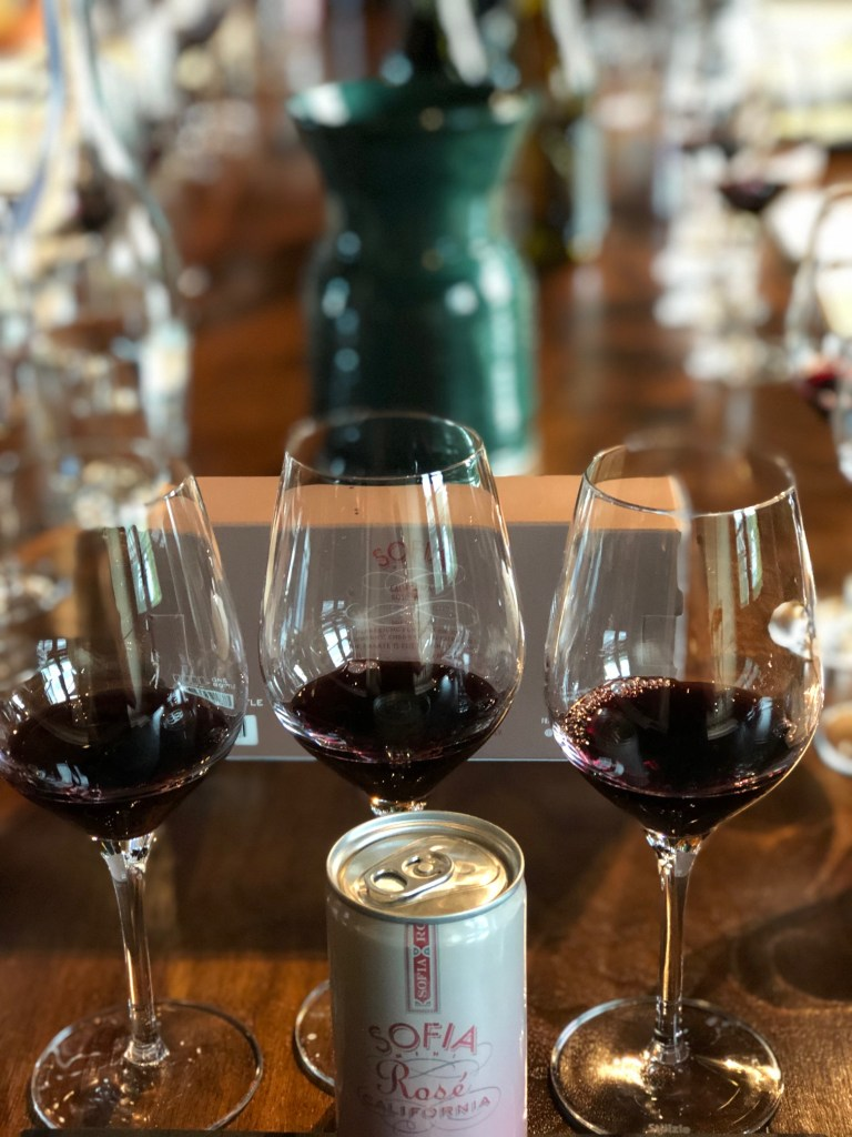 Wine tasting at Francis Ford Coppola Winery
