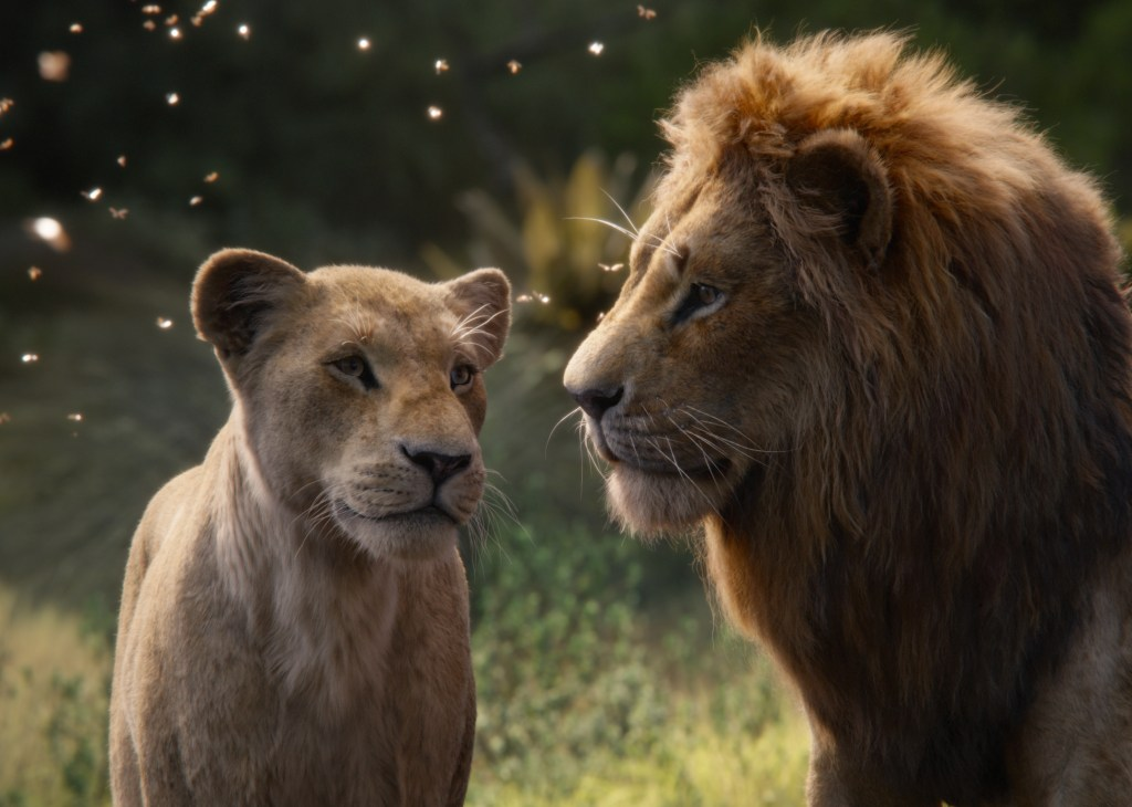 Nala and Simba in The Lion King