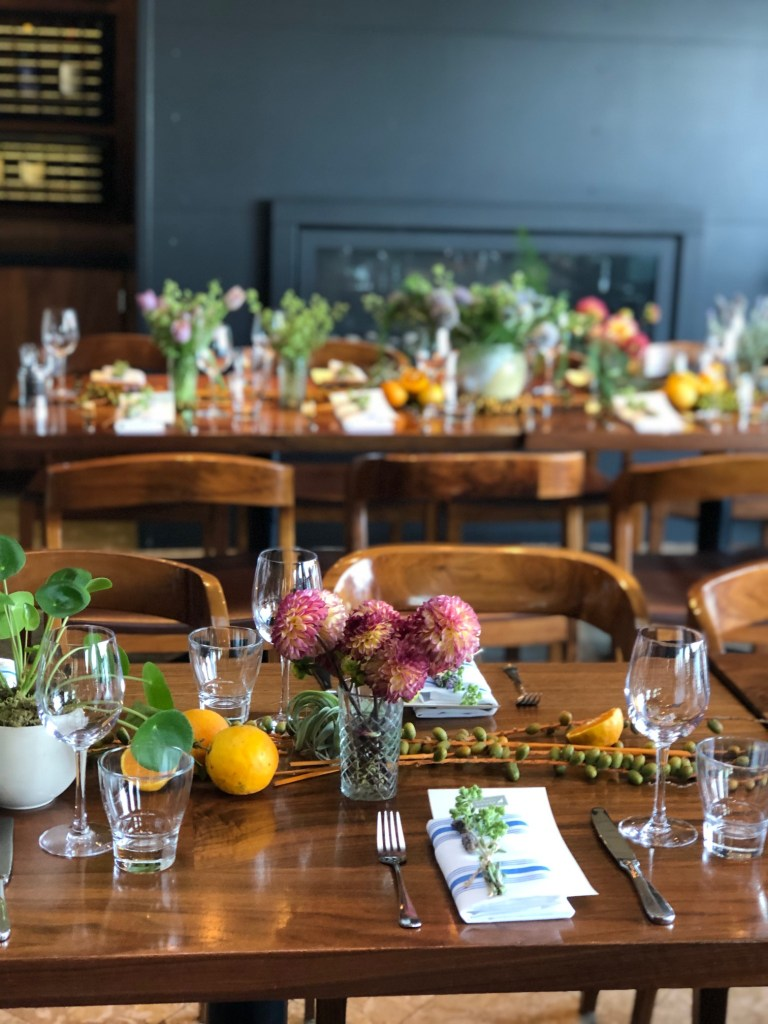 Table setting at Barrel House Tavern in Sausalito