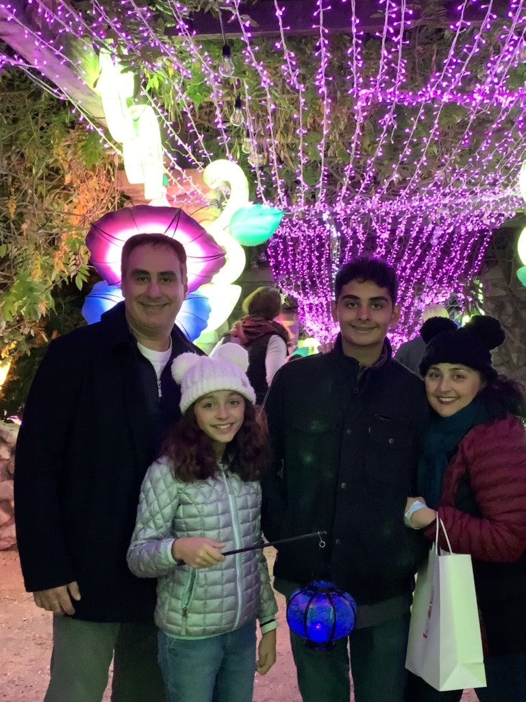 Naz and family at the Chinese Lantern Festival