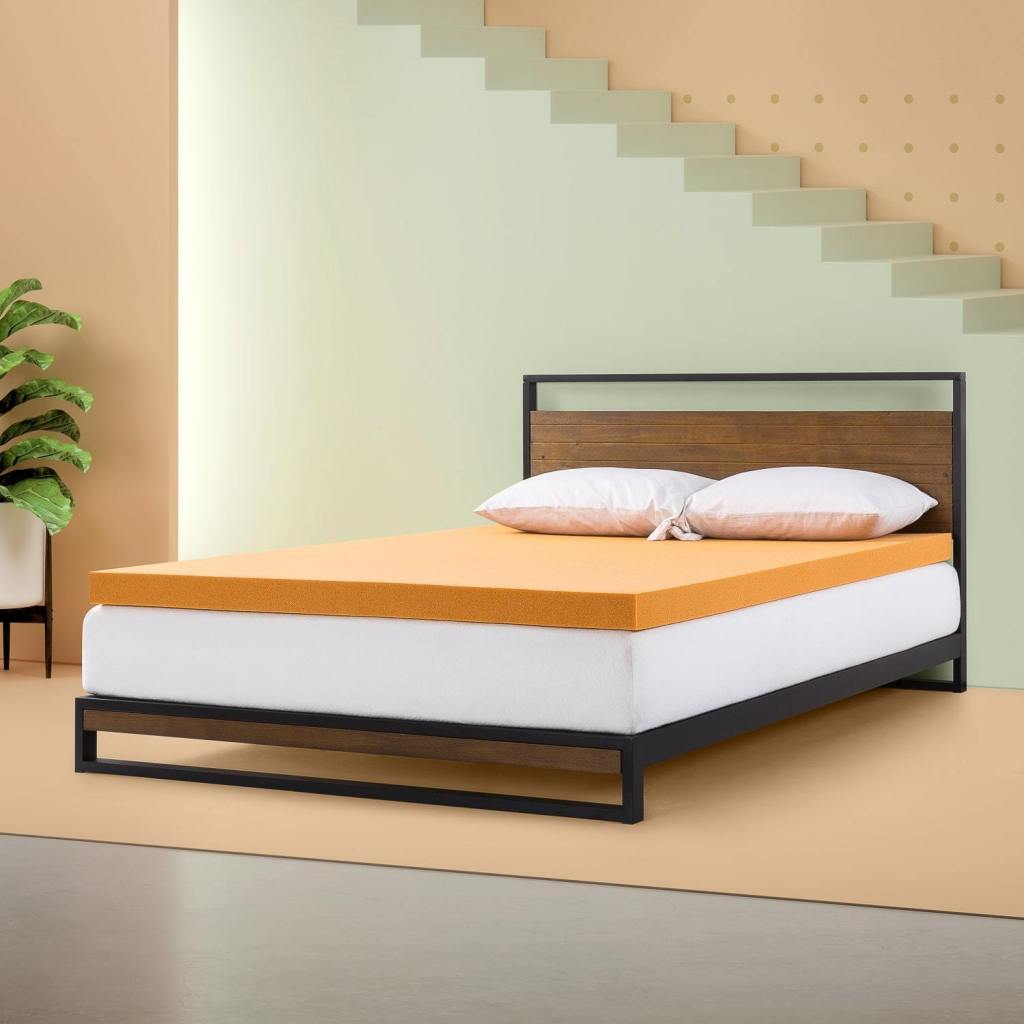 Antimicrobial Copper Memory Foam Mattress Topper