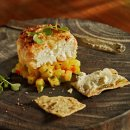 Tommy Bahama Macadamia Crusted Goat Cheese with Mango Salsa Recipe