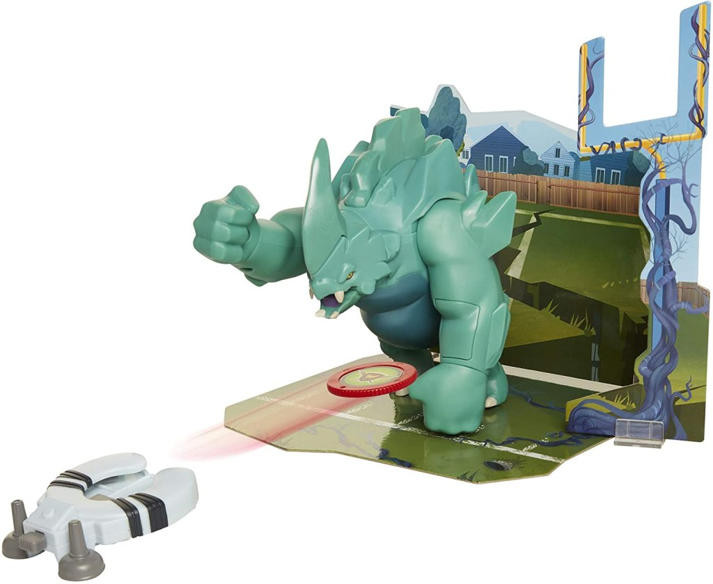 The Last Kids On Earth Smashin' Dozer Action Figure 6 Scale Playset with Disk Launcher & Diorama Piece to Build The Town of Wakefield, Smashin' Dozer Diorama