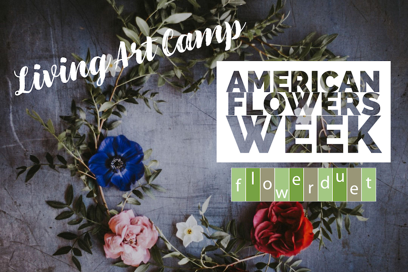 American Flowers Week During Living Art Camp