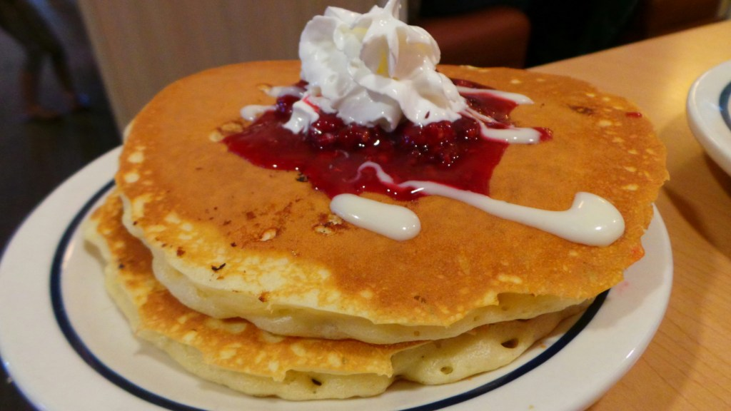 iHop White Chocolate Chip pancakes
