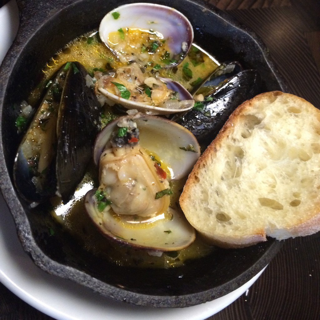 mussels and clams