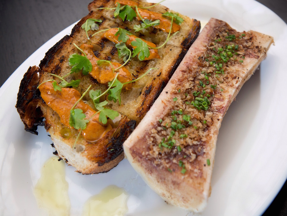 Twenty Eight uni bone marrow toast