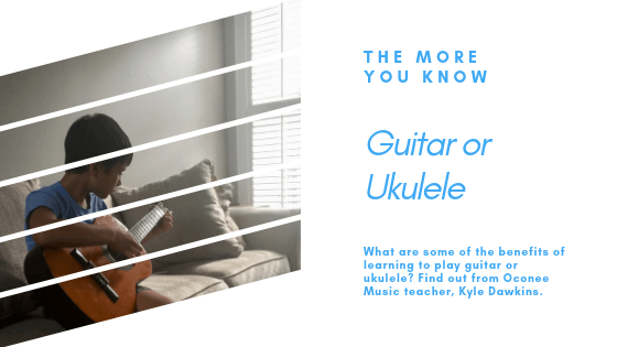 Guitar student playing by window