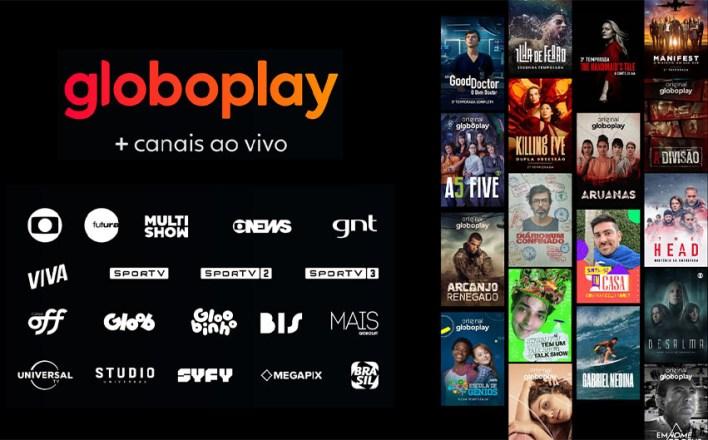 Assista TV no celular - Canais do GloboPlay
