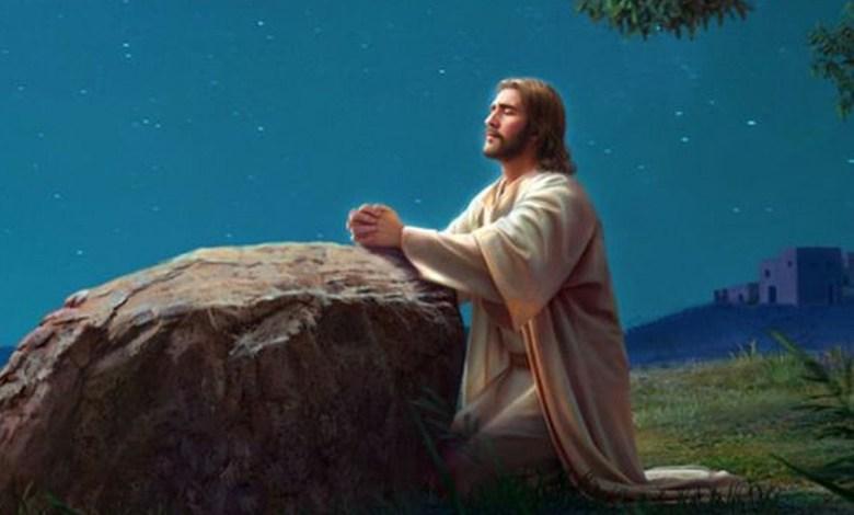 a vida de oração de Jesus