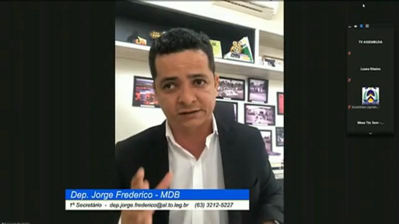 """Jorge Frederico solicita estudo para a volta dos setores de turismo e eventos, """"São milhares de tocantinenses que estão há sete meses sem trabalhar"""""""
