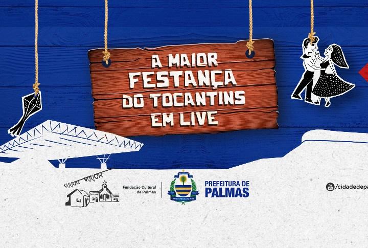 Arraiá da Capital Online acontece de 25 a 29 de novembro nas redes sociais da Prefeitura de Palmas