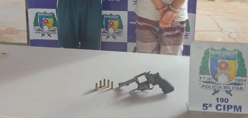 Foragido da Justiça é preso e menor é apreendido por porte ilegal de arma em Aguiarnópolis